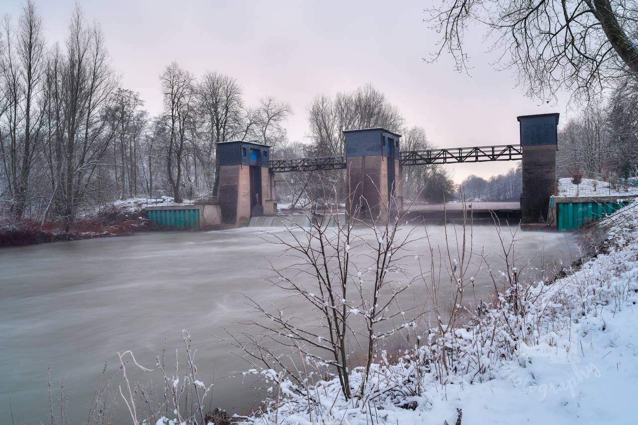 Brücke Westfalia Wehr Beckinghausen Winter-1-2